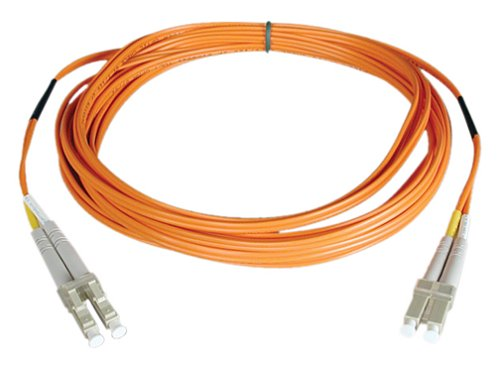 Tripp Lite Duplex Multimode 50/125 Fiber Patch Cable (LC/LC), 15M (50-ft.)(N520-15M) (Optic Multimode Fiber 15m Cable)