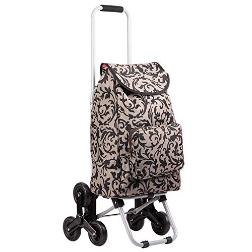 - LIXBD Outdoor Product/Mountaineering Shopping Carts, Small Carts, Folding Carts, Trolleys, Trolley Trolleys. (Color : Brown)