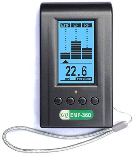 EMF-360 EMF Meter 3-in-1 Electric Field and Magnetic Field Radiation Handheld Digital LCD RF EMF Detector Dosimeter Tester