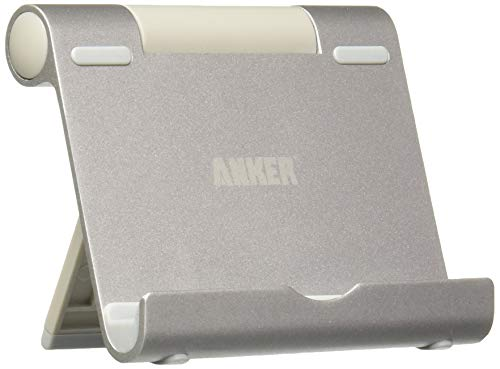 Anker Multi-Angle Aluminum Stand for Tablets, e-readers and Smartphones, Compatible with iPhone, iPad, Samsung Galaxy / Tab, Google Nexus, HTC, LG, Nokia Lumia, OnePlus and More (Silver)