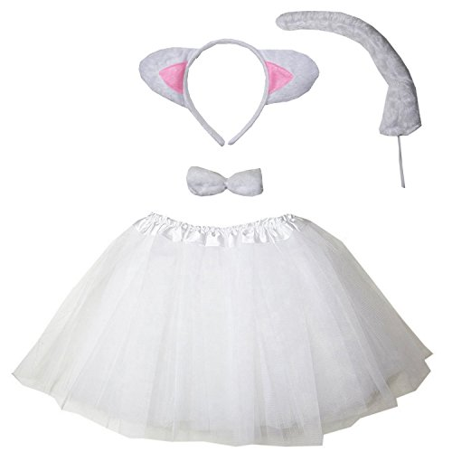 Kirei Sui Kids Costume Tutu Set White Cat