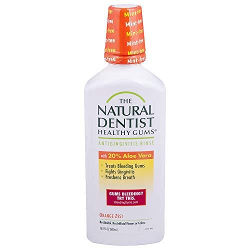 The Natural Dentist Daily Antigingivitis Mouth Rinse, Orange Zest - 16.9 oz - 2 pk