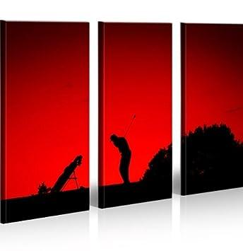 Islandburner Bild Bilder Auf Leinwand Golfing Golf Sport XXL Poster  Leinwandbild Wandbild Dekoartikel Wohnzimmer Marke