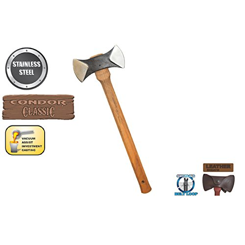 New Thunder Bay Double Bit Cruiser Axe + Includes a for sale  Delivered anywhere in USA
