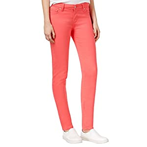 Celebrity Pink Juniors' Colored Skinny Jeans, Calypso Coral