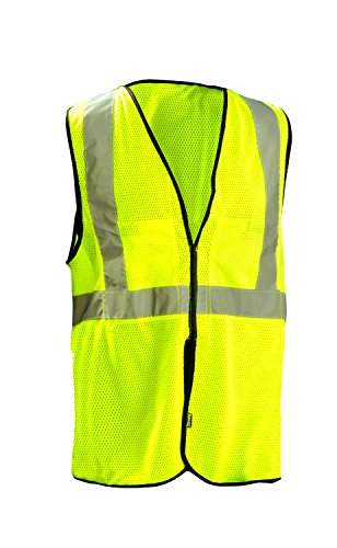 OccuNomix ECO-GCB-YL/XL High Visibility Value Mesh 5-Point Break-Away Hook & Loop Safety Vest, Class 2, 100% ANSI Polyester Mesh, Large / X-Large, Yellow ()