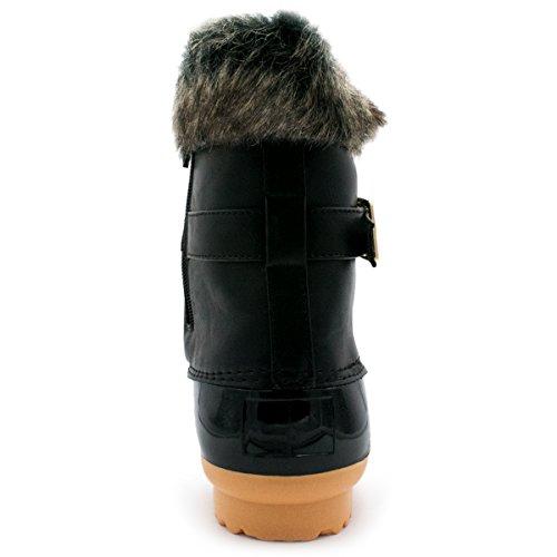 Premier Standard Frauen Sticken Lace Up Side Zip wasserdichte isolierte Schneeschuhe Premier Schwarz *