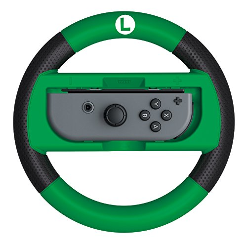 hori nintendo switch mario kart 8 deluxe wheel luigi version officially licensed by nintendo. Black Bedroom Furniture Sets. Home Design Ideas