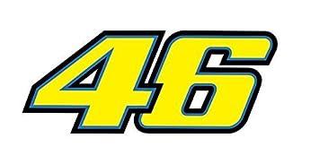 2pcs Valentino Rossi 46 Sticker Decal Aufkleber 18x72cm The Doctor Turtle Bike Car Auto Jdm Racing Tuning Dub Vag Notebook Laptop