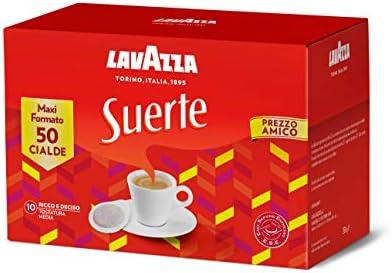 Lavazza (Roast and Ground) Suerte Caffè in Cialde Ese – 1 Confezione da 50 Cialde