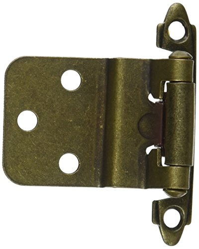 Hardware House 64-4492 Contractor Pack Inset Cabinet Hinge, Antique Brass, 10-Pack
