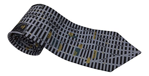Tie City Silk Of London - Mens 100% Silk Novelty Cities Tie / Necktie 3 Styles Including New York, Rome and Paris (New York)