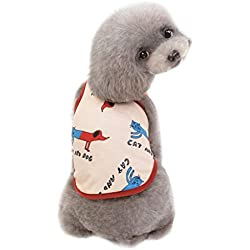 Ecurson ❤Pet Dog T Shirts ❤ Unisex Pet Clothes Puppy Dog Cat Vest T Shirt Apparel Clothing