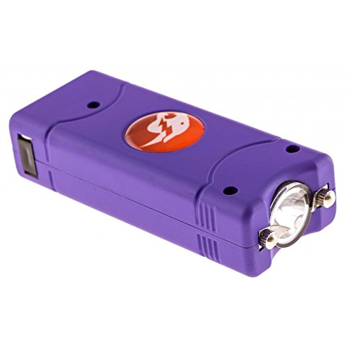 Compact Stun Device (Cheetah Purple MAX POWER 3.8 Million Volt Rechargeable Mini Compact Stun Gun Flashlight Combo with Nylon Carrying Holster Case)