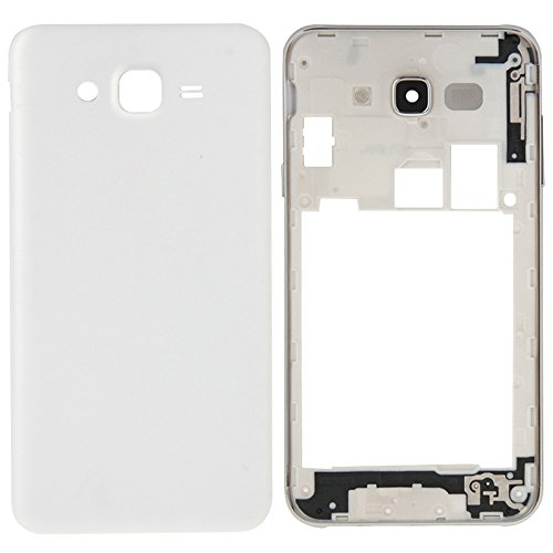 iPartsBuy Full Housing Cover Replacement(Middle Frame Bazel + Battery Back Cover) for Samsung Galaxy J7(White)