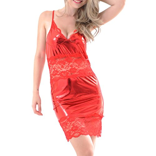 de Vetements Sexy Rouge Tentation Vêtements sous Artificiel Vêtements Ensemble de sous Cuir Vêtements sous Dentelle Sexy Nuit Vêtements OVERMAL Femmes Lingerie qtwdF8qRx