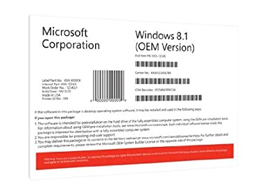 Windows 8.1 Pro OEM 32 Bit Vollversion