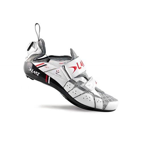 Lake Cycling 2015 Men's TX312 Triathlon Shoe w/Speedplay Sole (White/Red - 50)