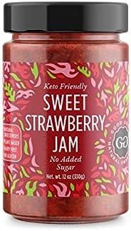 Sweet Jams by Good Good - 12 oz / 330 g - No Added Sugar Strawberry / Apricot / Raspberry /Blueberry Jam - Ket