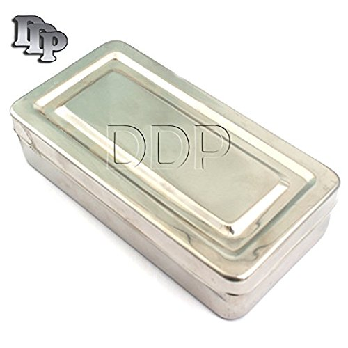 DDP 8''X4''X2'' INSTRUMENT TRAY WITH LID HOLLOWARE DENTAL HOLLOWARE INSTRUMENTS by DDP (Image #1)