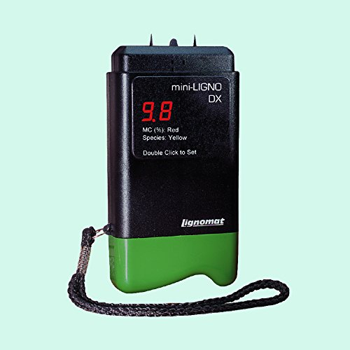 Mini-Ligno DX Pin Moisture Meter for Wood, Bamboo, Sheetrock and Other Building Materials Lignomat Moisture Meter