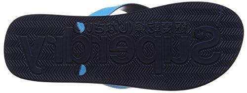 Superdry Herren Cork Colour Pop Zehentrenner Mehrfarbig (Fluro Blue/Optic)