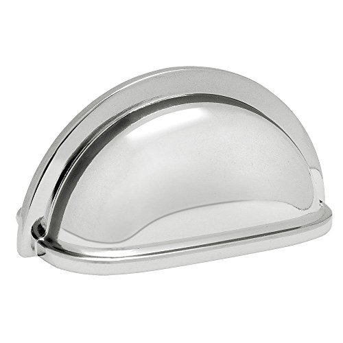 Cottage Cabinet Pull Handle - Cosmas 4310CH Polished Chrome Cabinet Hardware Bin Cup Drawer Handle Pull - 3