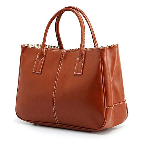 Camel Leather Tote Bag - 6