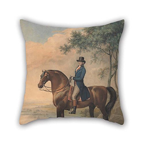 Oil Painting George Townly Stubbs - Warren Hastings On His Arabian Horse Pillow Shams 20 X 20 Inches / 50 by 50 cm Gift Or Decor for Birthday Festival Adults Bar Boy Friend Couch - 2 Sides