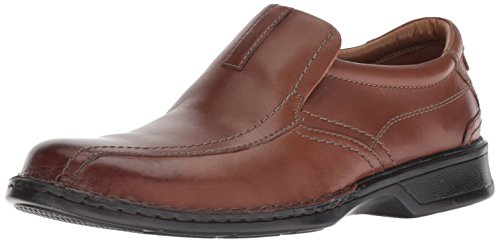 (Clarks Men's Escalade Step Slip-on Loafer- Brown Leather 9.5 2E US)