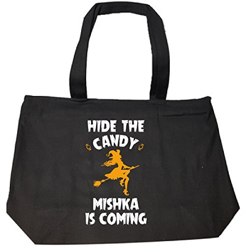 Hide The Candy Mishka Is Coming Halloween Gift - Tote Bag With Zip