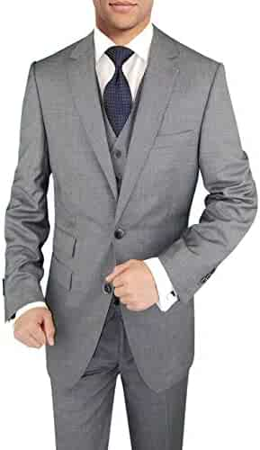 50234cef55a DTI BB Signature Italian Wool Vested Men s Suit 3 Piece Jacket Slacks  Waistcoat