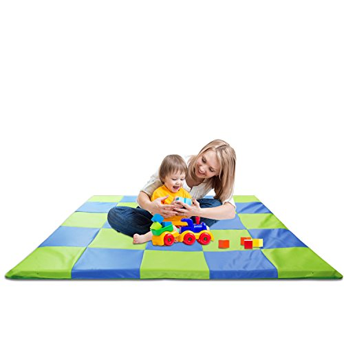(Memory Foam Soft Cushioned Patchwork Baby and Toddler Activity Play Mat)