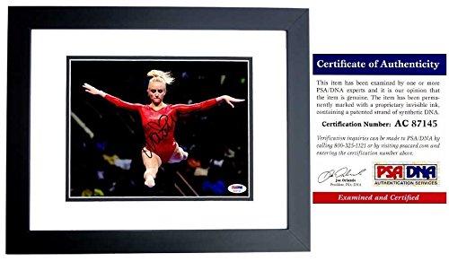Nastia Liukin Signed - Autographed 2008 Beijing Olympics Gymnastics 8x10 Photo BLACK CUSTOM FRAME - PSA/DNA Certificate of Authenticity (COA) - Olympic Gold Medal Gymnast