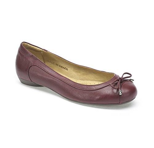 Lazo Negro Ballet On Piel Shoe Red Maya Slip Moema detallado 41wEqx5nI