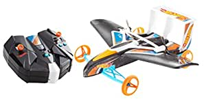 Hot Wheels Street Hawk Remote Control Flying Car, Standard Packaging, Orange/Blue