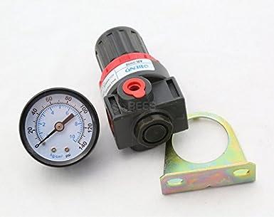 Earlywish 1 Unidad de Turbina Dental Compresor de Presión de Aire Manómetro de Válvula de Manómetro: Amazon.es: Industria, empresas y ciencia