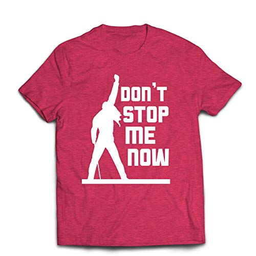 lepni.me Men's T-Shirt Don't Stop me Now! Vintage Rock Band Clothing, Musically Merch (Medium Heather Red Multi Color) (Best Band Merch Sites)