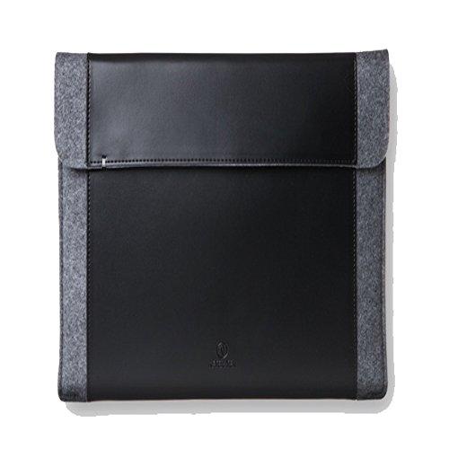 Afterten Felt Macbook 12 inch Laptop Pouch Ultrabook Leather Pouch Black