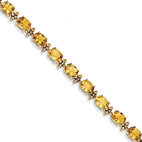 "14 carats avec Citrine - 7 ""- 7 mm-Fermoir-JewelryWeb"