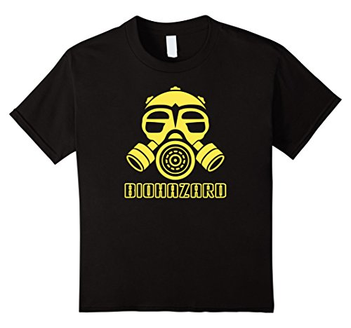 unisex-child Gas Mask Biological Chemical Warfare Apocalypse T Shirt 6 Black - Chemical Warfare Mask