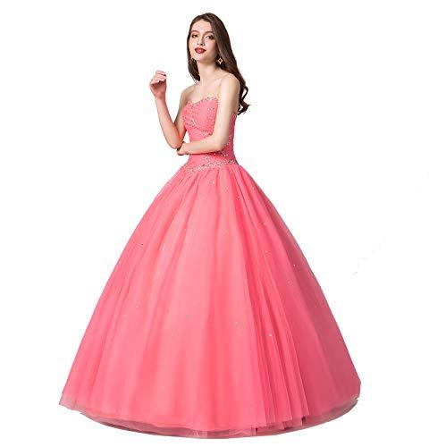- Engerla Women's Sweetheart Beading Bodice A-line Sweep Train Quinceanera Dress