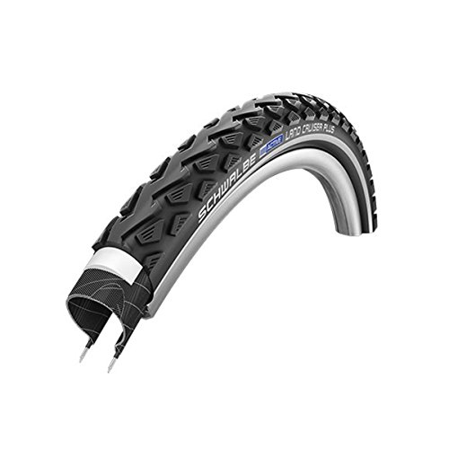 Schwalbe Land Cruiser Plus HS 450 Cruiser Bicycle Tire - Wire Bead - Reflex (Black-Reflex - 26 x - Cruiser Schwalbe
