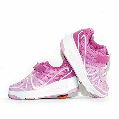 Envio 24H Zapatillas Con Ruedas Color Rosa Talla 28 hasta 35 Envio Desde España (EU30