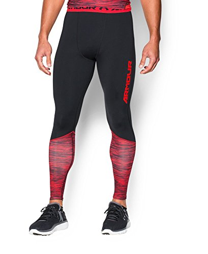 Under Armour Men's HeatGear Armour Twist Flight Compression Leggings, Black