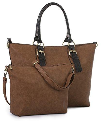 Big Large Handle Vegan Bag Handbag 2 Shoulder 1 Tan Shop Designer Leather Medium Top Tote in Womens pxpwq1r