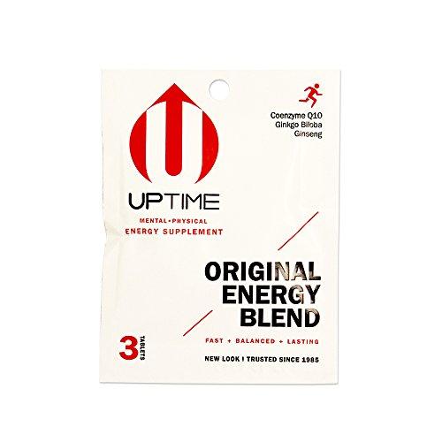 UPTIME – Premium Energy Supplement – Original Blend Tablets – 3ct. Packet (Case of 24 Packs) – Zero Calories