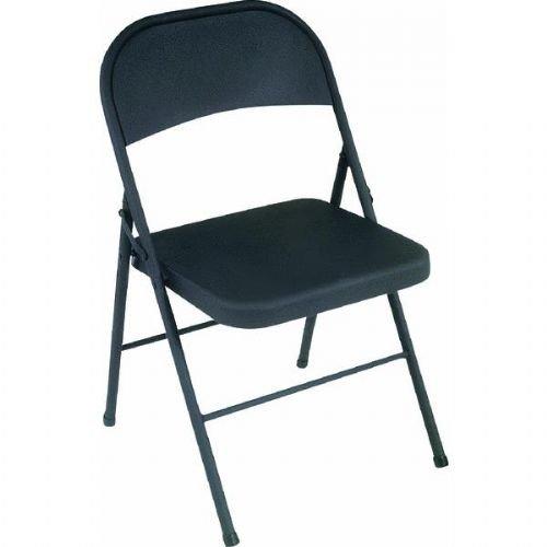 Bridgeport 1471105X All Steel Folding Chair, 18.25 by 19 by 30-Inch, Black, 4 per Carton