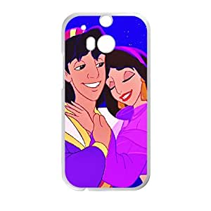 HTC One M8 Cell Phone Case Covers White Aladdin Character Aladdin CVXEYERTE11094 Durable Plastic Cell Phone Case