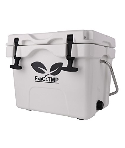 F40C4TMP Cooler Ice Chest 16 Quart, Hard Shell Heavy Duty Box Cooler Strong Retention White